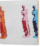 Venus De Milo Statue Wood Print