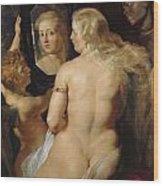 Venus In A Mirror Wood Print