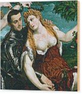 Venus Mars And Cupid Crowned By Victory Wood Print