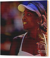 Venus Williams Wood Print