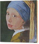 Vermeer Study Wood Print