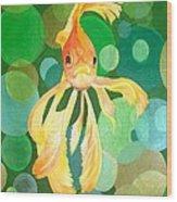 Vermilion Goldfish Wood Print