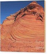 Vermilion Mounds Wood Print