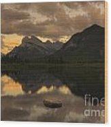 Vermillion Lake Sunset Wood Print