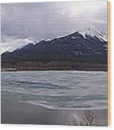 Vermillion Lakes, Banff National Park - Panorama Wood Print