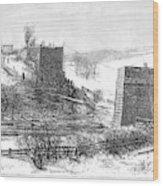 Vermont Bridge Collapse Wood Print