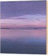 Vermont Burlington Lake Champlain Panorama Sunrise Wood Print