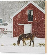 Vermont Christmas Eve Snowstorm Wood Print