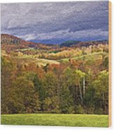 Vermont Colors Wood Print
