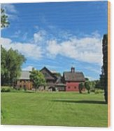 Vermont Country Home Wood Print
