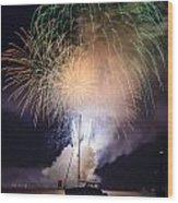 Vermont Fireworks Wood Print