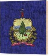 Vermont Flag Wood Print