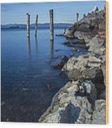 Vermont Lake Champlain Sunrise Burlington Wood Print