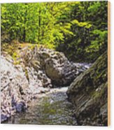 Vermont River Wood Print