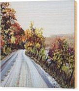 Vermont Road Wood Print