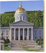 Vermont State Capitol In Montpelier  Wood Print