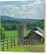 Vermont Welcome Wood Print