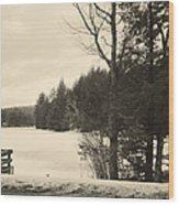 Vermont Winterland Wood Print