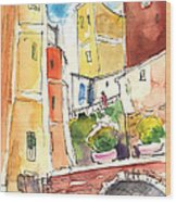 Vernazza In Italy 02 Wood Print
