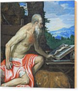 Veronese's Saint Jerome In The Wilderness Wood Print