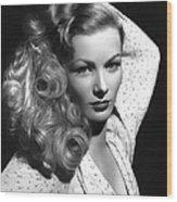 Veronica Lake Actress Wood Print
