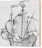 Verrazzano's Ship Wood Print