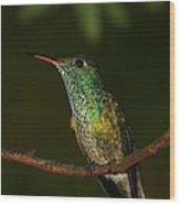 Versicolored Emerald Wood Print