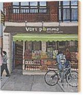 Vert Pomme  Fruiterie Meloche Et Fille Wood Print