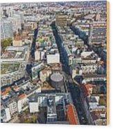 Vertical Aerial View Of Berlin Wood Print