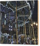 Vertical Carousel Wood Print