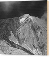 vertical desert and brushland surrounding el teide volcanic mountain parque nacional del teide Tenerife Canary Islands Spain third largest volcano in the world at 3715m Wood Print