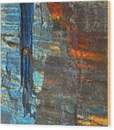Vertical Dominance In Horizontal Sea Wood Print