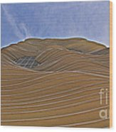 Vertical Dune - The Aqua Tower Wood Print
