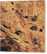 Vertical Exploration Wood Print