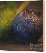 Very Blueberry Square Wood Print