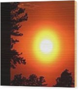 Very Colorful Sunset Wood Print