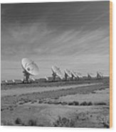 Very Large Array In Black And White Wood Print