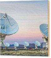 Very Large Array Of Radio Telescopes 1 Wood Print