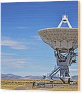 Very Large Array - Vla - Radio Telescopes Wood Print by Christine Till