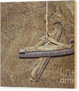 Very Old Ice Skates Wood Print by Patricia Hofmeester