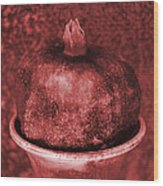 Very Red Pomegranate Wood Print