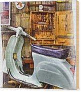 Vespa Scooter Wood Print