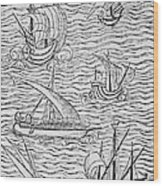 Vessels Of Early Spanish Navigators From The Narrative And Critical History Of American Wood Print