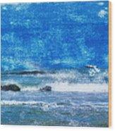 Vesterhavet The North Sea Wood Print