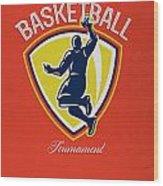 Veteran's Day Basketball Tournament Poster Wood Print by Aloysius Patrimonio