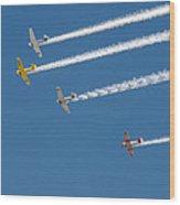 Veterans Day Flyover - Overhead Wood Print