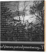 Veteran's Day  Wood Print