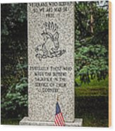 Veterans Memorial Wood Print