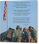 Veterans Remember Wood Print by Carolyn Marshall