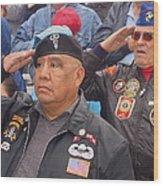 Veterans Saluting Passing Flag In A Parade Sacaton Arizona 2005-2013 Wood Print
